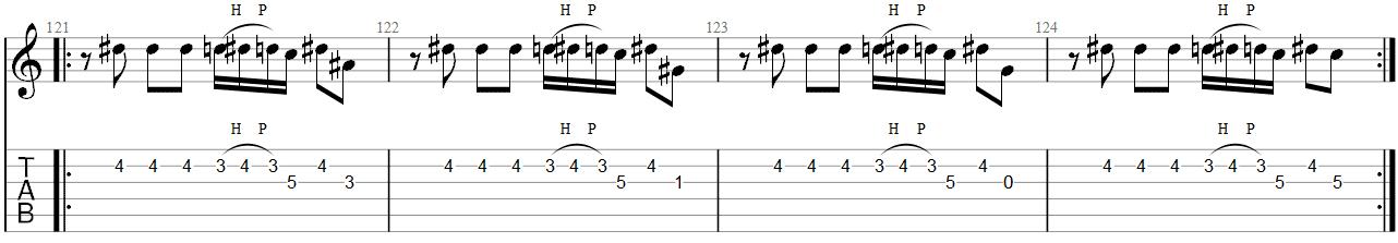 She Wolf Megadeth Guitar Solo TAB 5